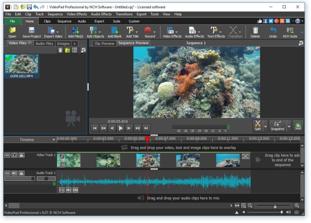 تحميل برنامج  VideoPad Video Editor