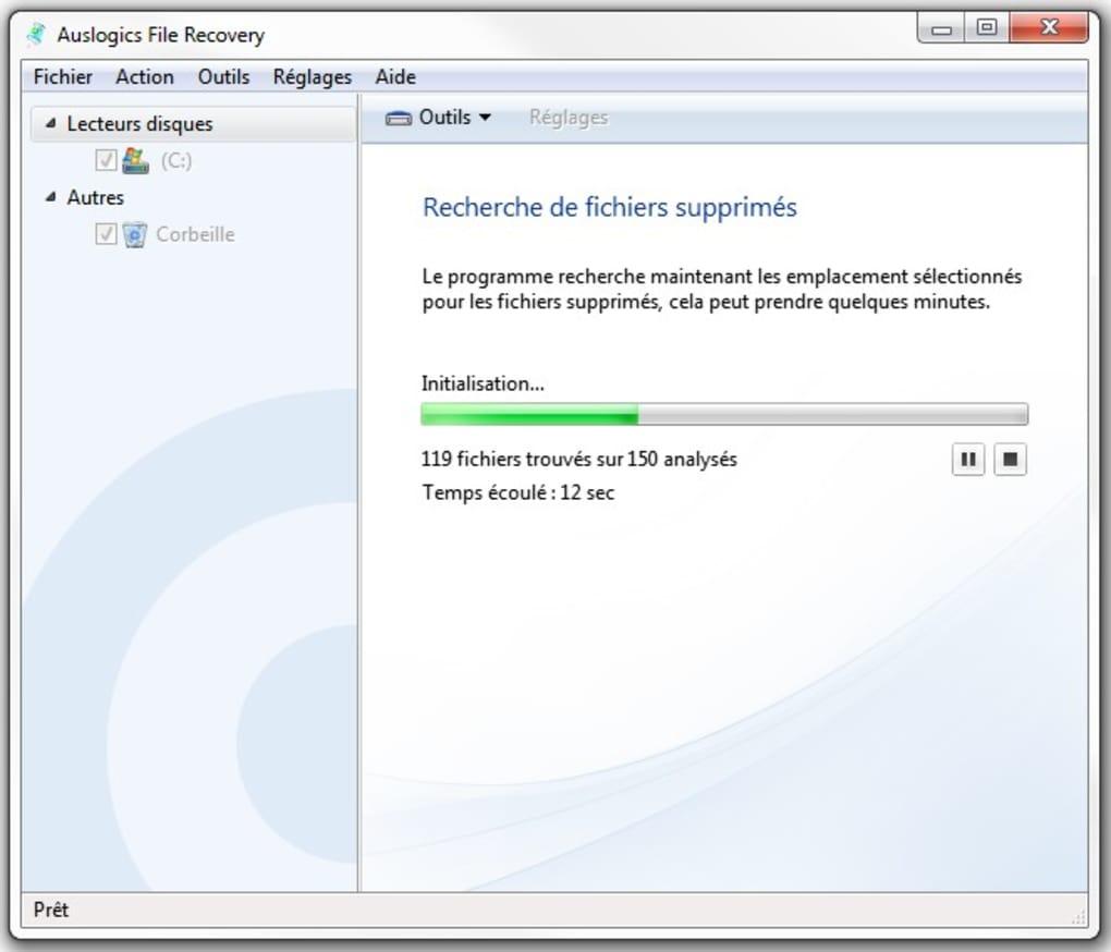 برنامج استعادة الملفات المحذوفة Auslogics File Recovery