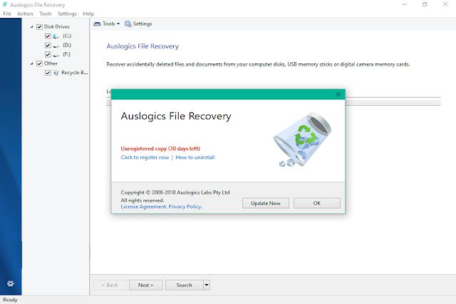 تحميل برنامج استعادة الملفات المحذوفة Auslogics File Recovery
