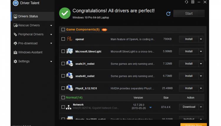 تعرف على برنامج تعريفات الجهاز وتسريعه Driver Talent