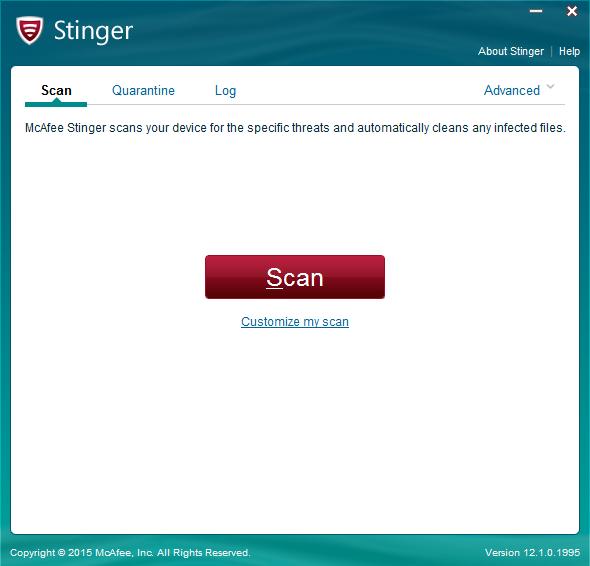 تحميل برنامج مكافي ستينغر McAfee Stinger لمكافحة الفيروسات